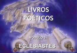 livros poéticos revisão do módulo 4