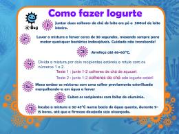 Como fazer Iogurte? - Receita (MS Power Point) - e-Bug