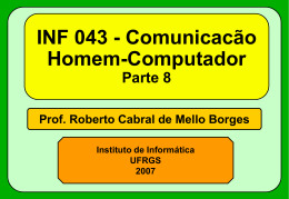 Projeto de Interfaces Parte 3 - Instituto de Informática