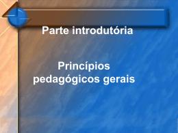 Parte introdutória - Colégio Passionista São Paulo da Cruz