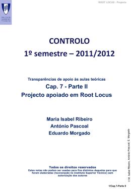 Cap.7-Parte II- Projecto RLocus