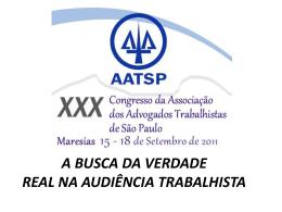 A BUSCA DA VERDADE REAL NA AUDIÊNCIA TRABALHISTA