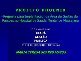 PROJETO PHOENIX PARTE II GESTÃO DE PESSOAS