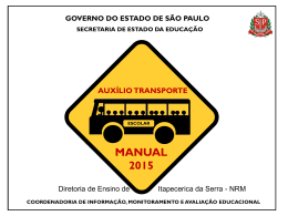 Manual do Sistema Transporte Escolar