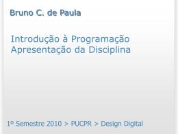 Funções matemáticas - Bruno Campagnolo de Paula
