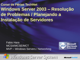 Windows Server 2003 - Center