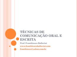 técnicas de comunicação oral e escrita