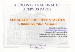 Símbolos e representações a Biblioteca do Nacional