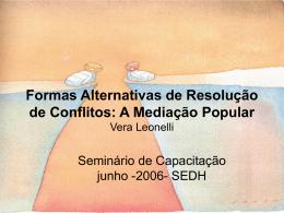 Formas Alternativas de Resolução de Conflitos