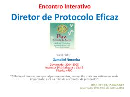 Treinamento Diretor de Protocolo Eficaz
