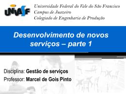 Desenvolvimento de novos serviços