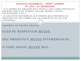 adjunto adverbial de intensidade