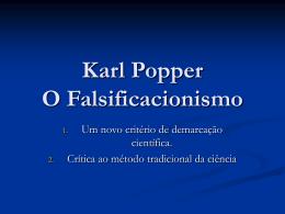 Karl Popper O Falsificacionismo