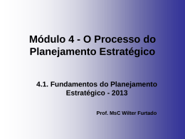 Módulo 4.1 - Fundamentos do PE - 2013