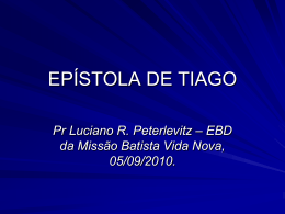 EPÍSTOLA DE TIAGO
