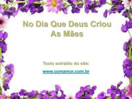 CRIACAO_DA_MAE