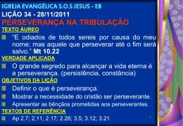 28/11/2011 perseverança na tribulação