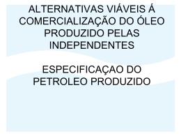 alternativas viáveis á comercialização do óleo