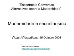 Modernidade e securitarismo - iscte-iul