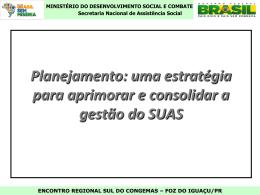Uma estratégia para aprimorar e consolidar a gestão do SUAS