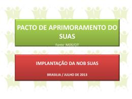 PACTO DE APRIMORAMENTO DO SUAS - COGEMAS-PR