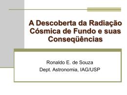 A Descoberta da Radiação Cósmica de Fundo e suas