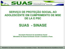 SUAS - SINASE – Valéria - Ministério Público do Estado da Bahia