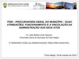 pgm – procuradoria-geral do município – suas atribuições