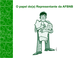 O papel do(a) Representante da AFBNB