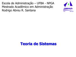 Aula Rodrigo - Teoria dos Sistemas - introducao-adm-2009-1