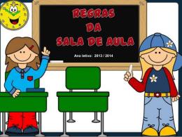 Regras de conduta a ter dentro da sala de aula