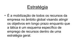 Estratégia - Universidade Castelo Branco