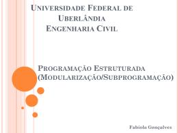 Modularizção - Facom - Universidade Federal de Uberlândia