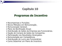 SEMANA 13 - aula 01 - Programas de Incentivo