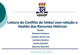 Bacia do Rio Cascão - planejamento-2009