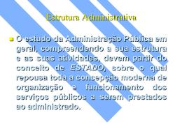 slides sobre estrutura da administração pública