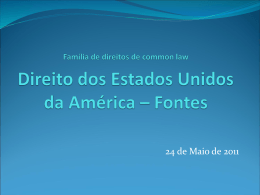 Restatements of the Law - Faculdade de Direito da UNL