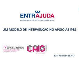 Um Modelo de Intervenção no Apoio Às IPSS