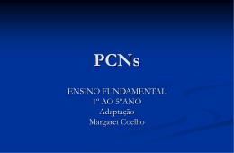PCNs ENSINO FUNDAMENTAL O QUE É?