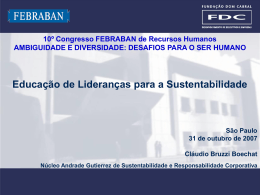 Educação das Lideranças para a Sustentabilidade