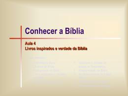 Bíblia 04 -Livros inspirados