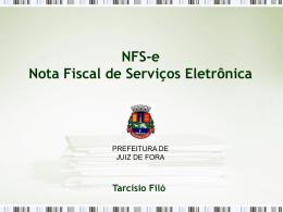 Nota Fiscal de Serviços Eletrônica NFS-e