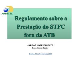 Apresentação do conselheiro Jarbas Valente a respeito da proposta