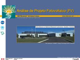 Análise de Projeto Fotovoltaico (FV)