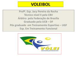 VOLEIBOL - Curso de Educação Física