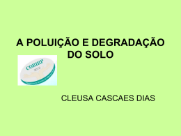 A Poluicao e Degradacao do Solo