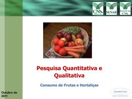 Consumo de Frutas e Hortaliças CNA - SENAR