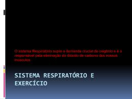 SISTEMA RESPIRATÓRIO E EXERCÍCIO
