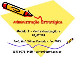 Módulo 1 - Contextualização e objetivos - fev 2013