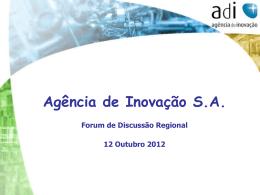 Inovação - CCDR Algarve